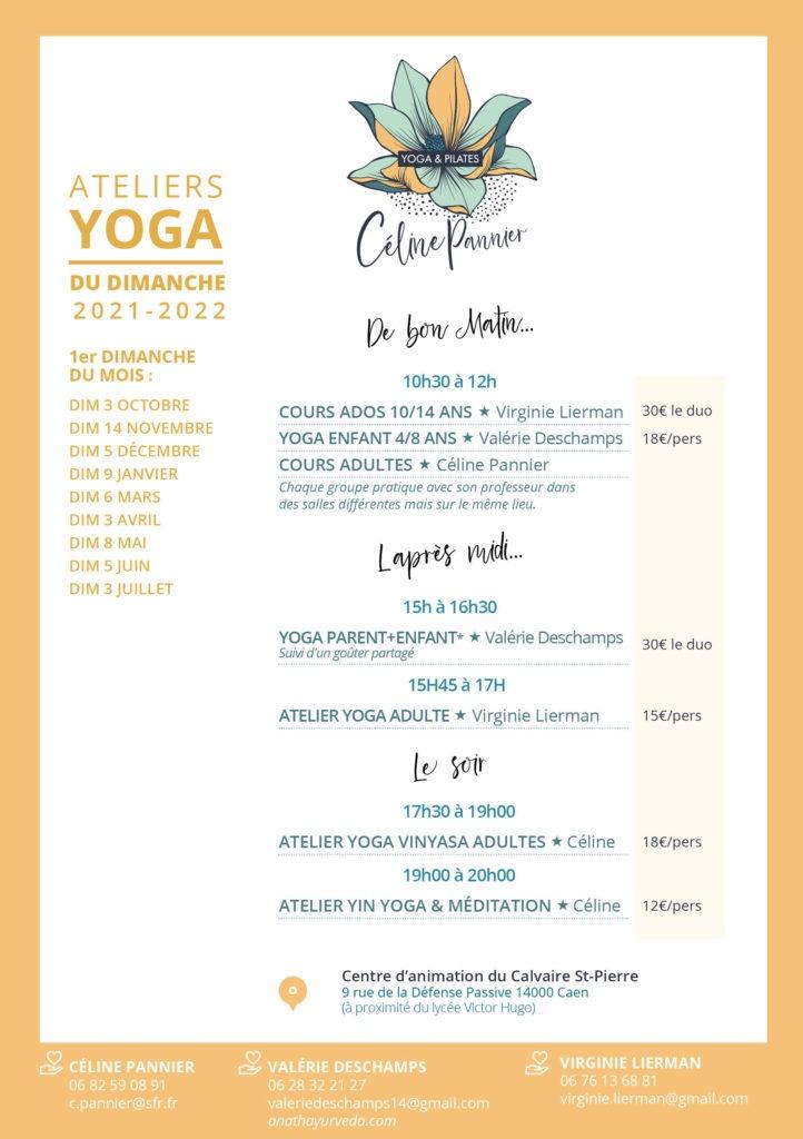 Celine Pannier - Programme Yoga du Dimanche 2021-2022